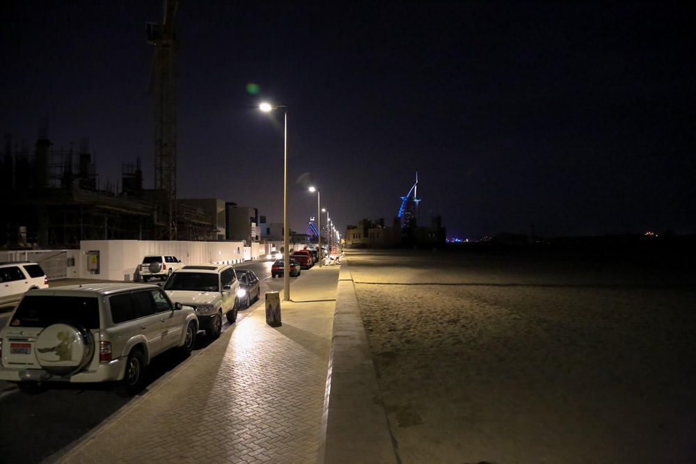 Jumeirah beach at night