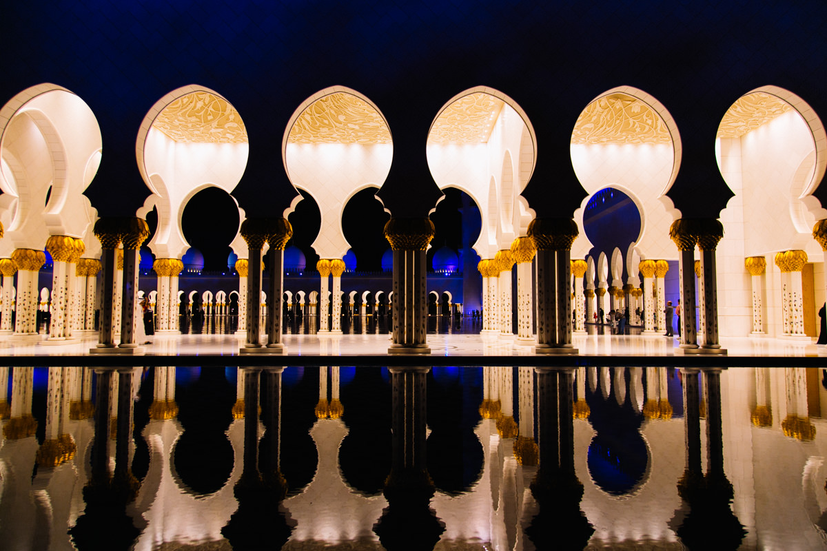 Courtyard of the Sheikh Zayed Mosque