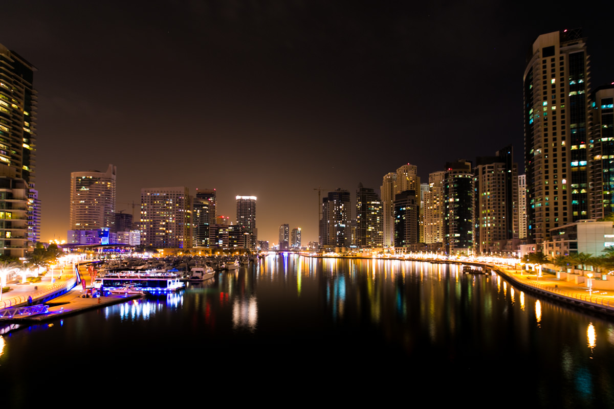Dubai Marina Illuminated