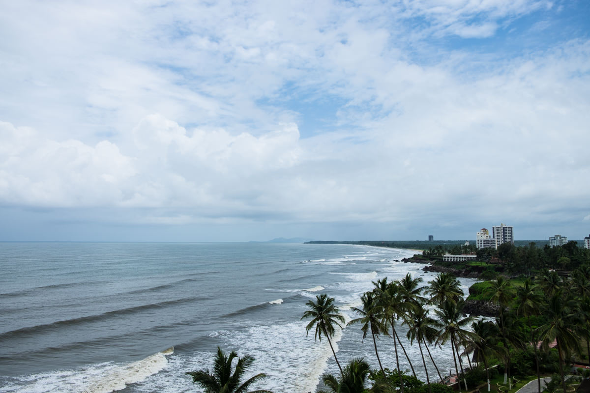 The beach from the Kannur lighthouse