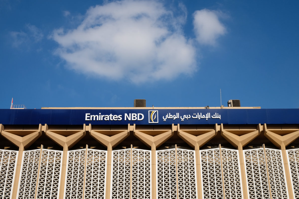 The Emirates NBD building in Deira